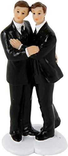Hochzeitsfigur Hochzeitspaar Brautpaar Männer Gay Homosexuell 5x4,1x11,3cm