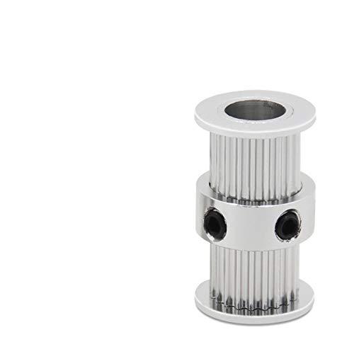 NO LOGO L-TAO-Pulley, 1pc Double Head GT2 20 Zähne Zahnrad 6 mm Breite Bohrung 5mm / 8mm tTiming Pulley for 3D-Drucker Ultimaker 2 Alumium Rollenrad (Größe : Bore 5mm)