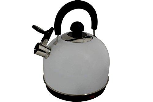 Wasserkocher Retro mit Pfeife 1,7 Liter 2200 Watt Weiss