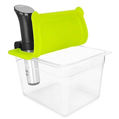 EVERIE Sous Vide Container with Universal Silicone Lid Compatible with Anova All Models, Anova Nano, Chefsteps Joule, Instant Pot, Wancle Sous Vide Cookers