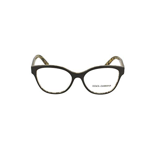 Dolce & Gabbana Brillen Gafas de Vista PRINTED DG 3322 BLACK LEO GLITTER 54/16/145 Damen