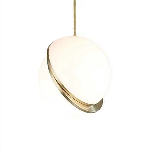 ZZYJYALG Nordic simple for colgar la lámpara esférica de hierro forjado de metal Droplight soporte for la pantalla ajustable Cordón colgante de luz Tela restaurante de alta cocina de la lámpara de tec