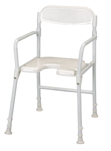 Patterson Medical - Silla plegable para ducha, color blanco