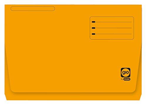 Elba Gio - Pack de 25 subcarpetas con bolsa y solapa, Fº, color amarillo