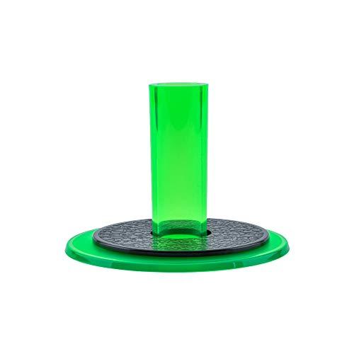 Authentic Clear Green Sanwa Denshi JLF-CD-CG OEM Arcade Joystick Shaft Cover + Dust Washer Set - Fighstick MAME Jamma Arcade1UP