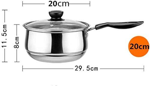 Jooyouo-TH Auflaufformen Edelstahltopf Doppelboden Suppentopf Nichtmagnetisches Kochen Mehrzweckkochgeschirr Antihaftpfanne Induktionsherd Gebrauchter Topf 20Cm-20Cm