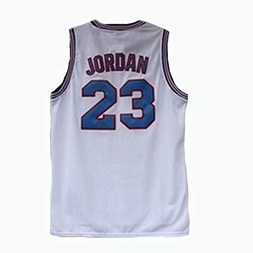 Jordan # 23 Space Jam Tune Squad Baloncesto Jersey Deportes Película Cosido Malla Chaleco Blanco Negro S-XXXL-White-XL