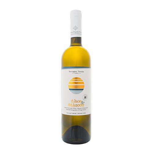 Limnos Organic Weine - Ilios kai Thalassa - Muscat Alexandrias - Bio Weiß Halb-süßer Wein - Glas Flasche, 750ml