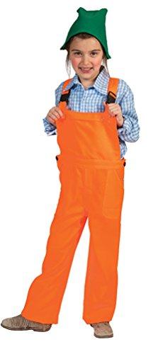 Karneval-Klamotten Zwerg Kostüm Kinder Zwergen Kostüm mit Zwergen-Mütze Zwerg-Latzhose orange Karneval Kinder-Kostüm