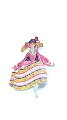 Easter Tree Ornament Art Deco Fancy Hat Lady Handmade Holiday Gift