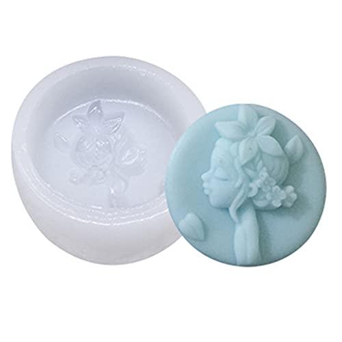 Accesorios de Cocina, Molde del silicón de la Muchacha 3D para la decoración del Chocolate del Molde de la Pasta de azúcar del Caramelo de la Torta de la hornada