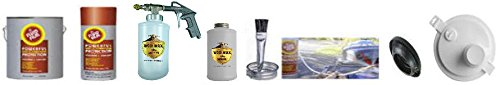Fluid Film Undercoating Kit 1 Gallon with PRO Spray Gun, bottles, and everything you need
