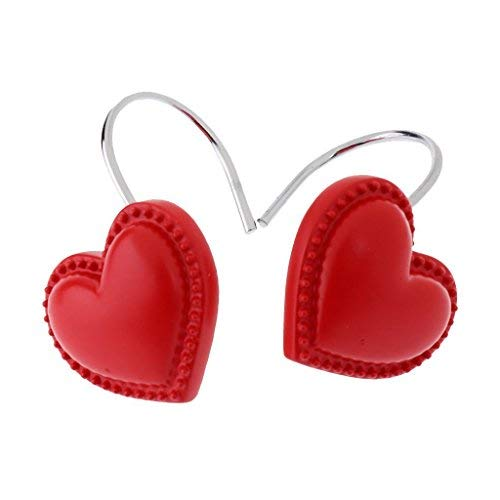 CHICTIE Set of 12 Shower Curtain Hooks Rings Lovely Heart...