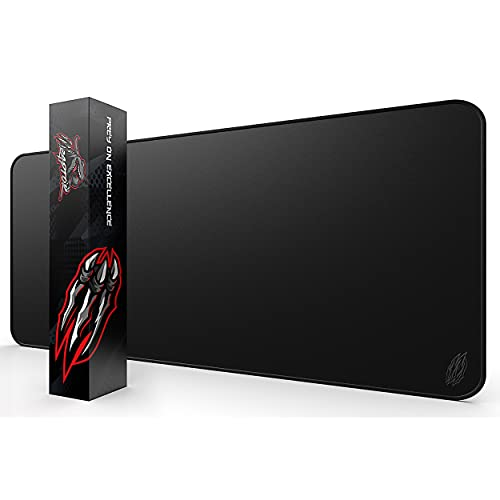 Wraptor Gaming Mouse Pad Extended Extra Large XL Black 36x12 with Stitched Edges - Laptop, Computer & PC Desk Mat - Nonslip (XL Extended)