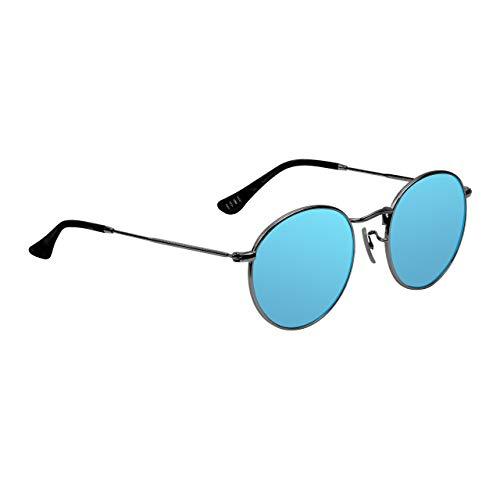 BOMO Gafas de sol polarizadas de estilo redondo de metal para hombres y mujeres, conducción, correr, pesca, golf, ciclismo, protección UV400, marco ligero y flexible TR90, embalaje premium