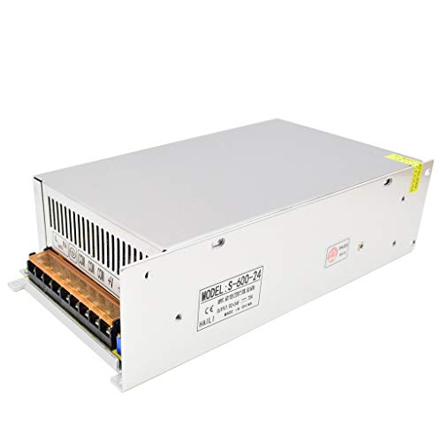 DC 24V Fuente de Alimentación Conmutada AC 110V / 220V a 24V 25A 600W Convertidor de Conmutación para Tiras de LED, Industrial