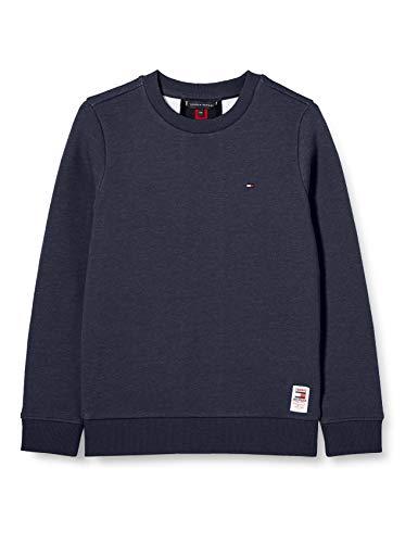 Tommy Hilfiger Jungen Back Insert Cn Sweatshirt Pullover, Blue, 16