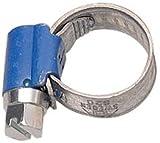 Aparoli 841445 Abrazadera para Tubos Flexibles, 10-16 mm (Rosca helicoidal, Ancho de fleje 9 mm, 10 Unidades) Color Azul