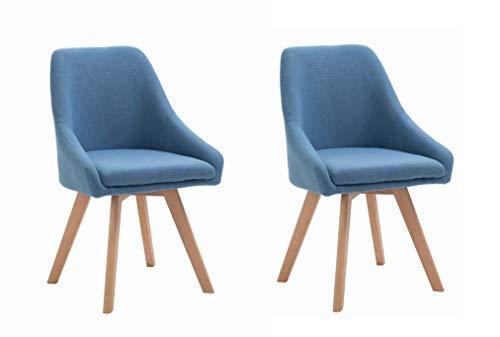 Zahara Silla, Telas, Azul Acero, 83,5cm (Alto) x 44cm (Ancho) x 47cm (Profundidad)