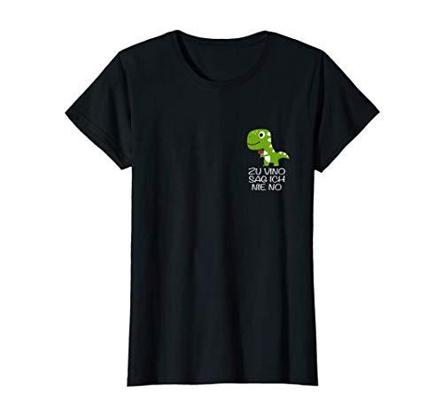 Damen Wein Dinosaurier Rotwein Dino Spruch ZU VINO SAG ICH NIE NO T-Shirt