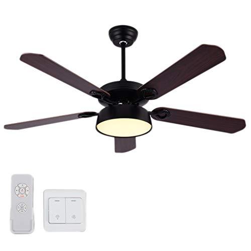 hsj WDX- Ventilador de techo de 106 cm para salón, dormitorio, comedor, ventilador de techo de madera, velocidad ajustable, duradero (color: C)