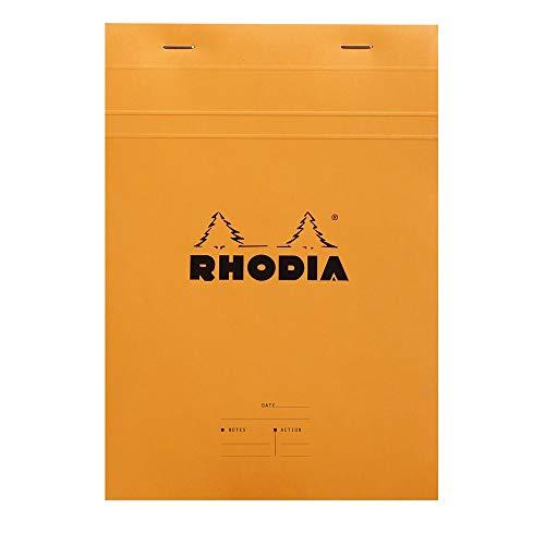 Rhodia Head Stapled Meeting Pad, No16 A5, voorgedrukt Hoofd Stapled Meeting Pad, Voorgedrukt A5 ORANJE