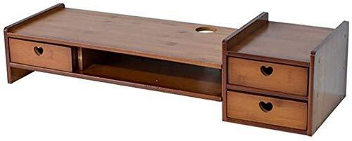 Lsmaa Tabellen Schreibtisch Monitor Stand Desktop-Monitor Riser TV Organizer Slots Bürobedarf Speicherraum Tastatur Maus Wide Screen Riser-Computer (Farbe: T4) (Color : T4)