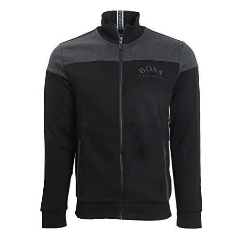 Hugo Boss Herren Skaz Regular Fit Track Jacket Pullover, schwarz, Groß