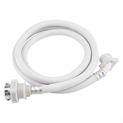 2/3 m PVC Lavadora Manguera de entrada de agua Color blanco A prueba de explosión Arandela Tubo Tubo Conector Accesorios Pieza de repuesto