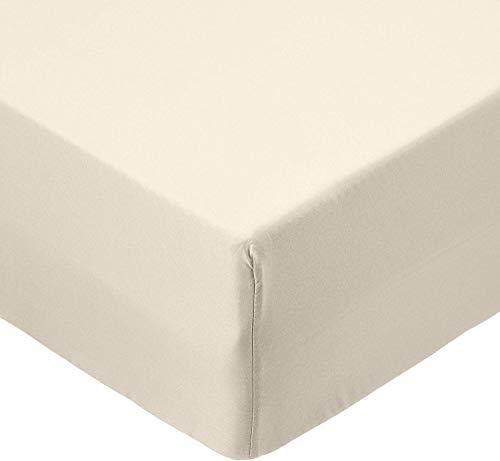 AmazonBasics microvezel hoeslaken, enkel, beige