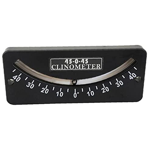 Mini inclinómetro, indicador de ángulo de escala dual 45-0-45, inclinómetro preciso portátil, herramientas y mejoras para el hogar
