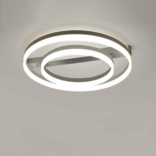 WJFXG 70W Moderne runde LED-Deckenleuchte Simple Warm Farbe Aluminium Acryl Weiß Lampshade kreative Persönlichkeit Wohnzimmer Ø (60 + 40) cm Neutral Lampe 4500K