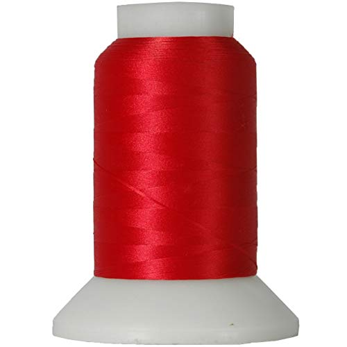 Threadart Wooly Nylon Thread - 1000m Spools - Color 4022 - RED - Serger Sewing Stretchy Thread - 50 Colors Available