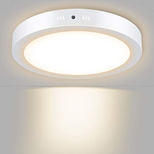 Unicozin LED Deckenleuchte Rund, Ersetzt 150W Glühbirne, 24W 2000LM, Warmweiß(3000K), Ø30cm, Metall Rahmen Led Deckenlampe, Ideal für Schlafzimmer Küche Wohnzimmer