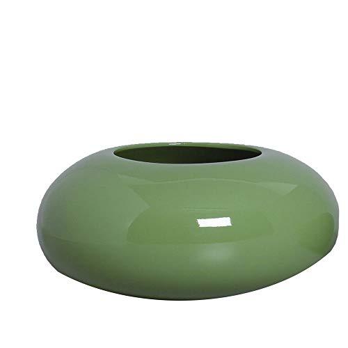 Cachepot Redondo Vaso Decorativo G Decoração em Cerâmica Verde