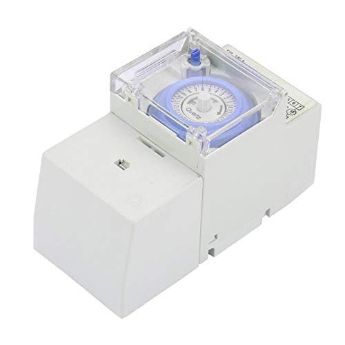 Interruptor de tiempo mecánico - 110-230v SUL181H Temporizador mecánico analógico de 24 horas Interruptor de tiempo manual/automático del controlador