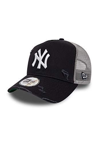 New Era MLB Distressed Trucker Adjustable Cap NY Yankees Dunkelblau, Size:ONE Size