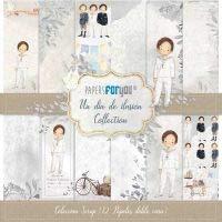 Papers For You Coleccion Un Dia de Ilusion Niño 12 Papeles Scrapbooking 30x30cm Dos Caras