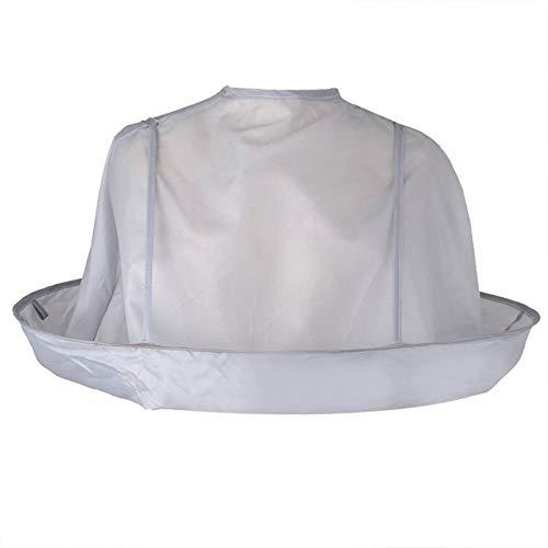 Faltbare Erwachsenenbekleidung Haarschneideschal Kap Haarfärbemittel Mantel Regenschirm Atmungsaktives Friseurumhang für Salon Home - Silbergrau