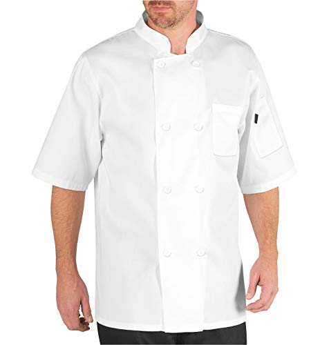 Chef Code Men's Short Sleeve Unisex Classic Chef Coat