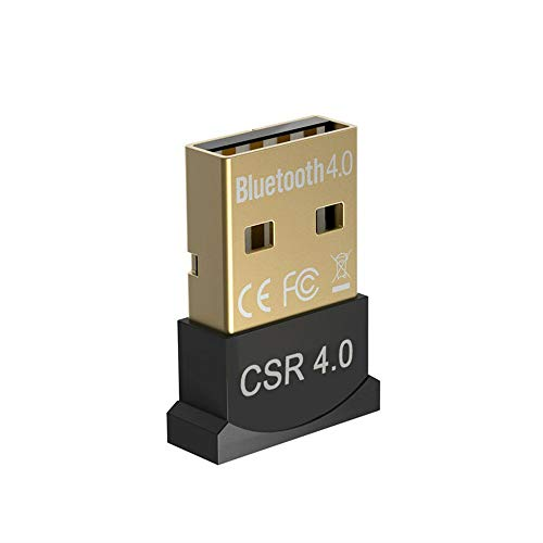 Kalavika Bluetooth USB PC 4.0, Adaptador Dongle Bluetooth USB V4.0 CSR Inalámbrico Transmisor para PC con Windows XP/7/8/10/Vista Compatible con Auriculares, Altavoces, Teclados, Ratónes, Impresora