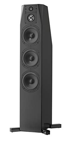 NHT C Series C 4 Premium Home Theater 3-Way Floor-standing Tower Speaker - Clean, Hi-Res Audio | Sealed Box | Aluminum Drivers | Single, High Gloss Black