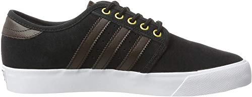 adidas Herren Seeley Skateboardschuhe, Schwarz (Core Black/Dark Brown/FTWR White), 39 1/3 EU