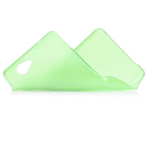 Sony Xperia Z1 Compact | iCues Zero Matt Case Verde | in più di luce molto sottile foglio di protezione trasparente della pelle Sereno Sereno protettivo protezione Cop Custodia Cover Case Tasca Borsa