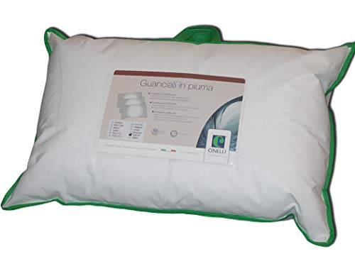 Guanciale in piuma Promo Effetto Memory Piumino e Piumetta D'Oca Antiacaro Anallergico Lavabile cm 45x75