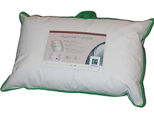 Almohada de pluma Promo efecto Memory plumón y plumón de ganso antiácaros hipoalergénica lavable 45 x 75 cm