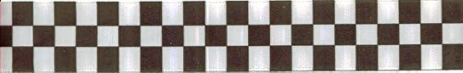 7/8in Black/white Checkered Ribbon - 5yards