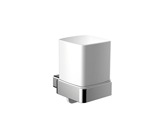 Emco loft Seifenspender (Stülpbecher aus Kristallglas satiniert, Füllmenge 155 ml, für Flüssigseifen) 052100103, Glas, Normal