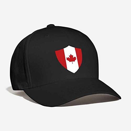 MAOZIJIE Canada Shield aangepaste geborduurde voetbal voetbal jas van wapens Badge Hockey Vlag esdoorn blad Unisex Cool gebogen papa pet