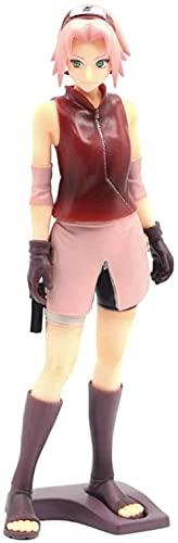Naruto Haruno Sakura 9 85 en posición de pie Personaje de Personaje de Anime Modelo PVC Estatua Estatua Dibujos Animados Juego Toys Toys Collection Objetos para Adultos Decoración